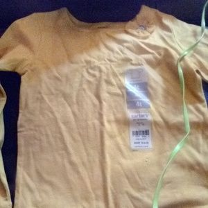 Carter's 4T Long Sleeve Yellow Shirt Brand New